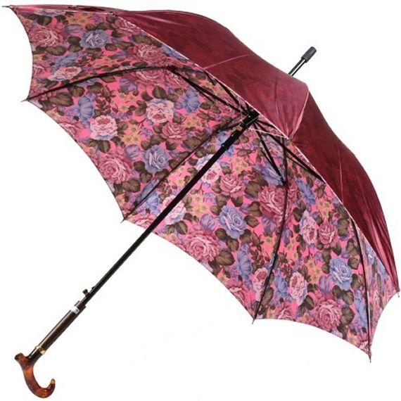 EAPバランスサポートアンブレラ ワンタッチ式雨傘(ワイン)